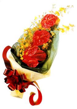 özel 5 adet antorium buketi   Eskişehir çiçek gönderme sitemiz güvenlidir