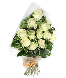 Eskişehir online çiçekçi , çiçek siparişi  12 li beyaz gül buketi.
