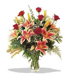 Eskişehir çiçek servisi , çiçekçi adresleri  Pembe Lilyum ve Gül