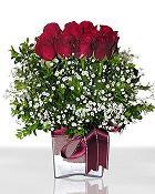 Eskişehir çiçek , çiçekçi , çiçekçilik  11 adet gül mika yada cam - anneler günü seçimi -