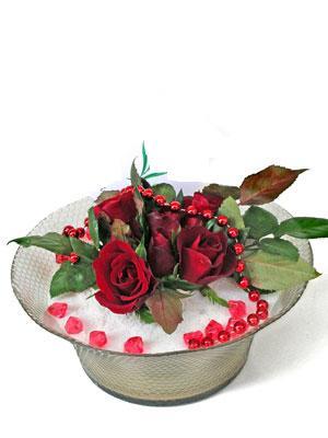 Eskişehir çiçek siparişi vermek  EN ÇOK Sevenlere 7 adet kirmizi gül mika yada cam tanzim