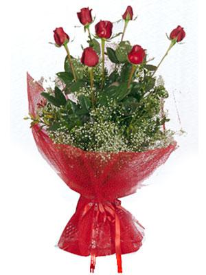 Eskişehir çiçek servisi , çiçekçi adresleri  7 adet gülden buket görsel sik sadelik
