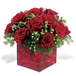 Eskişehir çiçek yolla  9 adet kirmizi gül cam yada mika vazoda