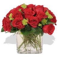 Eskişehir çiçekçi telefonları  10 adet kirmizi gül ve cam yada mika vazo