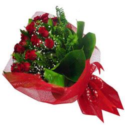 Eskişehir kaliteli taze ve ucuz çiçekler  12 adet kirmizi essiz gül buketi - SEVENE ÖZEL
