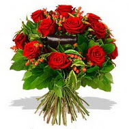 9 adet kirmizi gül ve kir çiçekleri  Eskişehir internetten çiçek satışı