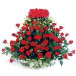 Eskişehir kaliteli taze ve ucuz çiçekler  41 adet kirmizi gülden sepet tanzimi