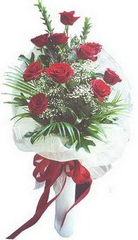 Eskişehir hediye çiçek yolla  10 adet kirmizi gülden buket tanzimi özel anlara