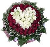 Eskişehir çiçek mağazası , çiçekçi adresleri  27 adet kirmizi ve beyaz gül sepet içinde