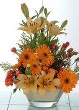 Eskişehir çiçek servisi , çiçekçi adresleri  cam yada mika vazo içinde karisik mevsim çiçekleri