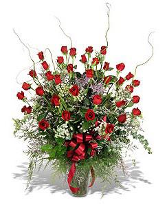 Eskişehir çiçek siparişi sitesi  33 adet kirmizi gül vazo içerisinde