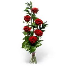 Eskişehir çiçek siparişi sitesi  cam yada mika vazo içerisinde 6 adet kirmizi gül