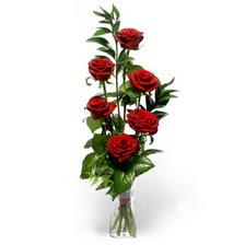 Eskişehir uluslararası çiçek gönderme  mika yada cam vazoda 6 adet essiz gül