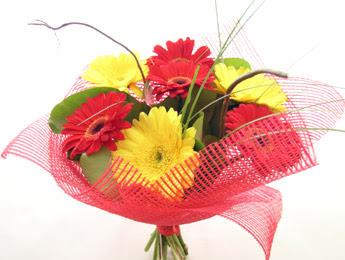 9 adet gerbera çiçeklerinden buket  Eskişehir çiçek satışı