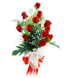 11 adet kirmizi güllerden görsel sölen buket  Eskişehir çiçek siparişi vermek