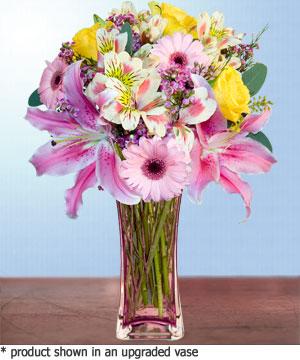 Anneme hediye karisik cam mevsim demeti  Eskişehir internetten çiçek siparişi