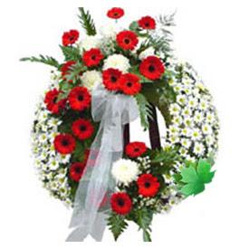 Cenaze çelengi cenaze çiçek modeli  Eskişehir uluslararası çiçek gönderme