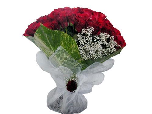 25 adet kirmizi gül görsel çiçek modeli  Eskişehir çiçek servisi , çiçekçi adresleri