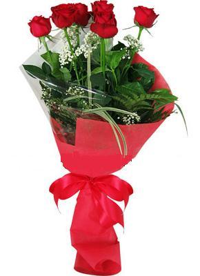 7 adet kirmizi gül buketi  Eskişehir çiçek yolla , çiçek gönder , çiçekçi