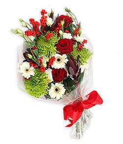Karisik mevsim buketi çiçek tanzimi  Eskişehir internetten çiçek siparişi