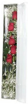 Eskişehir çiçek siparişi sitesi   5 adet gülden kutu güller