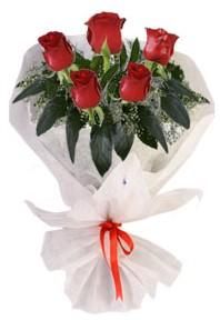 5 adet kirmizi gül buketi  Eskişehir çiçekçiler