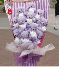 11 adet pelus ayicik buketi  Eskişehir çiçek gönderme sitemiz güvenlidir