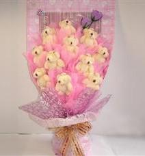 11 adet pelus ayicik buketi  Eskişehir çiçek yolla