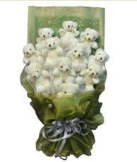 11 adet pelus ayicik buketi  Eskişehir online çiçek gönderme sipariş