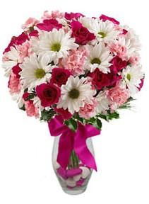Eskişehir çiçek siparişi sitesi  Karisik mevsim kir çiçegi vazosu