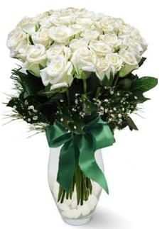 19 adet essiz kalitede beyaz gül  Eskişehir çiçekçiler