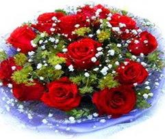 9 adet kirmizi güllerden buket  Eskişehir çiçekçi telefonları