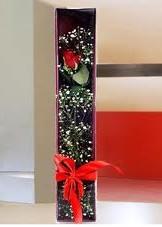 kutu içinde tek kirmizi gül  Eskişehir çiçek online çiçek siparişi