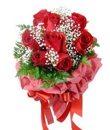 9 adet en kaliteli gülden kirmizi buket  Eskişehir çiçek servisi , çiçekçi adresleri