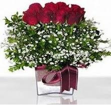 Eskişehir internetten çiçek satışı  mika yada cam vazo içerisinde 7 adet gül