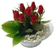 Eskişehir internetten çiçek satışı  cam yada mika içerisinde 5 adet kirmizi gül