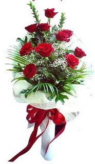 Eskişehir ucuz çiçek gönder  10 adet kirmizi gül buketi demeti