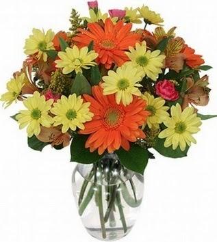 Eskişehir hediye sevgilime hediye çiçek  vazo içerisinde karışık mevsim çiçekleri