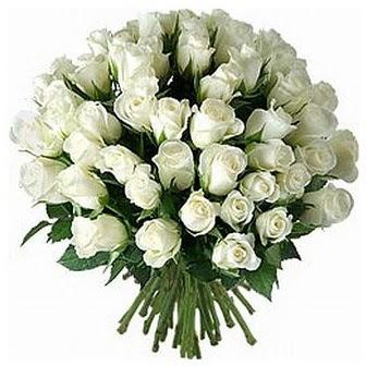 Eskişehir çiçek servisi , çiçekçi adresleri  33 adet beyaz gül buketi