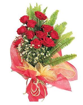 Eskişehir İnternetten çiçek siparişi  11 adet kırmızı güllerden buket modeli