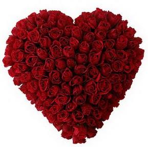Eskişehir çiçekçi mağazası  muhteşem kırmızı güllerden kalp çiçeği