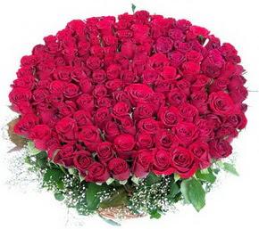 Eskişehir online çiçekçi , çiçek siparişi  100 adet kırmızı gülden görsel buket