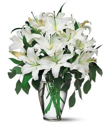 Eskişehir internetten çiçek satışı  4 dal kazablanka ile görsel vazo tanzimi