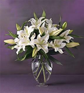 Eskişehir İnternetten çiçek siparişi  4 dal cazablanca vazo çiçeği