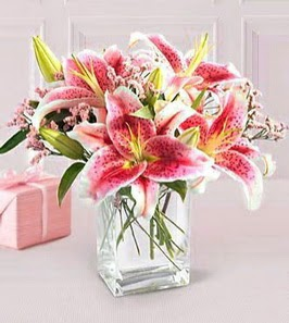 2 dal kazablanka görsel vazosu  Eskişehir çiçek siparişi sitesi
