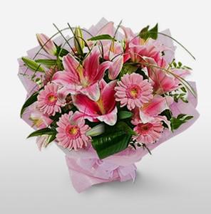 1 dal kazablanka ve kır çiçek görsel buketi  Eskişehir internetten çiçek satışı