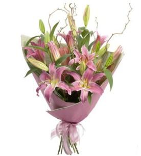 Eskişehir İnternetten çiçek siparişi  3 dal cazablanca buket çiçeği
