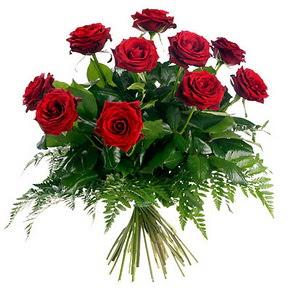 Eskişehir çiçek gönderme  10 adet kırmızı gülden buket