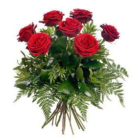 Eskişehir online çiçek gönderme sipariş  7 adet kırmızı gülden buket