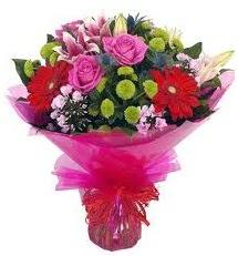 Karışık mevsim çiçekleri demeti  Eskişehir online çiçek gönderme sipariş